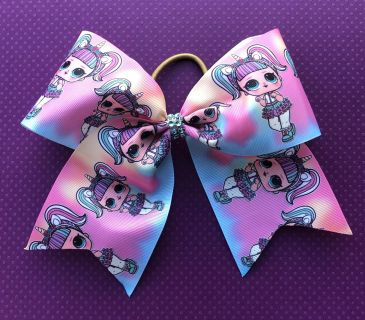 LOL Doll Unicorn Ombre Cheer Bow Ponytail