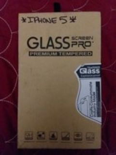 IPHONE 5 TEMPERED GLASS PROTECTOR