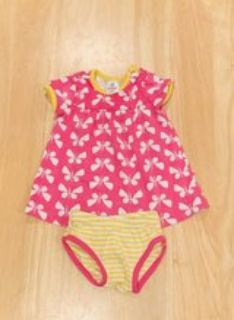 Hanna Andersson Baby Girl Spring/Summer Babydoll style dress with diaper cover. Size 60 (3-6 mon...