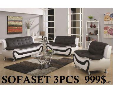 sofa set black white or red black