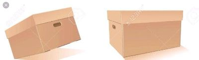 Boxes with lids and handles...good for moving or storage or organizing