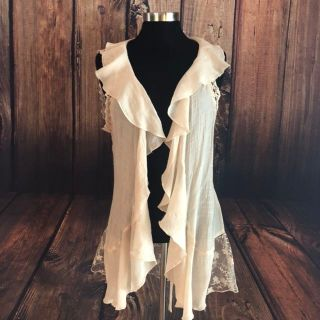 SOFT PRETTY SUMMER RUFFLED VEST (PPU ONLY)
