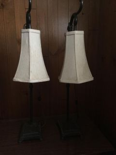 Antique lamps $15 for the pair