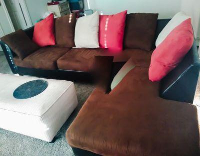 Jefferson chocolate 2 piece sectional sofa