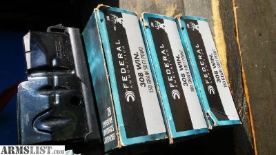For Sale: 46 rnds of .308 and savage axis mag.