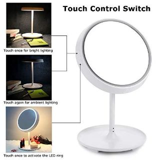 Touch Control LED Makeup Mirror and Table Lamp