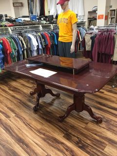 Dining room table w/leaf - Marcus Pointe Thrift Store