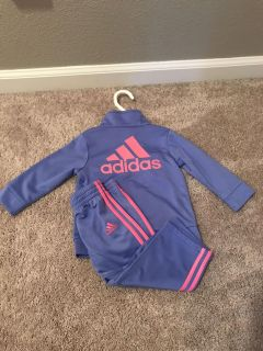 Girls size 12 months Adidas track suit