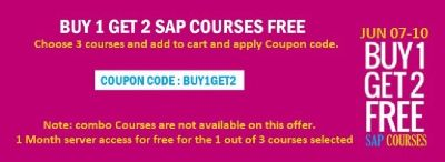 HURRY UP ! LAST 2 DAYS - BUY 1 GET 2 FREE : Learn 3 courses @ 1 course fee