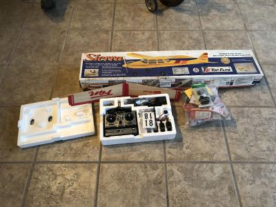 RC model airplane and parts