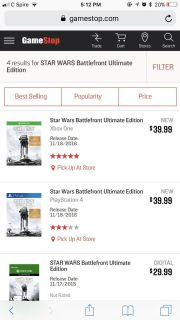 Star Wars battlefront ultimate edition Xbox one game