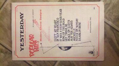 "$10 Vintage sheet music ""Yesterday"" By John Lennon and Paul McCartney"