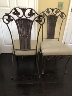 Wrought Iron Chairs (4)