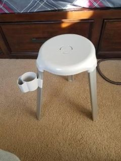 Shower stool with caddy