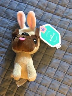 Puppy with bunny ears NWT