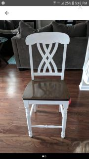 4 chairs about 26 inches from floor to seat