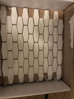 White tile from Floor and Decor