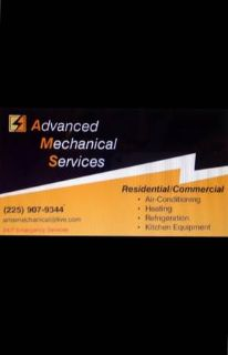 HVAC SERVICES- HEATING, AIR CONDITIONING, REFRIGERATION, KITCHEN EQUIP (Baton Rouge and surrounding areas)