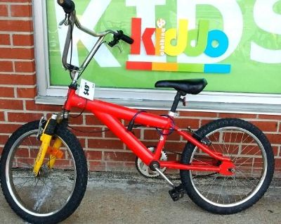 Kids red bicycle