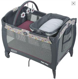 Graco Pack n Play Reversible Napper/Changer LX in Daisy-Open Box-NEW
