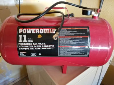 Powerbuilt 11 gal portable air tank