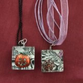 2 Halloween Necklaces Handmade