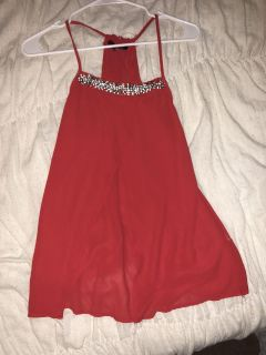 Red top with Jewel Design