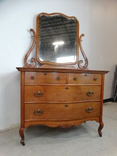 Antique Oak Dresser wtih Mirror
