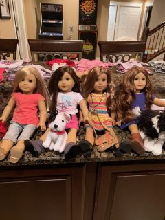 American Girl Dolls, Isabelle, Grace, Lea, Saige, Plus a ton of outfits & accessories available too