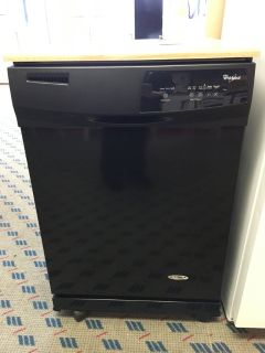 Whirlpool Black Portable Dishwasher - USED