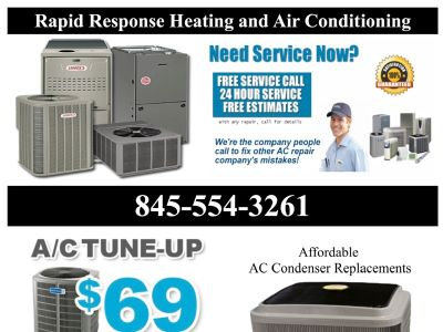 Rapid Response Heating & Cooling Repair - Freon Gas Recharge 69.95