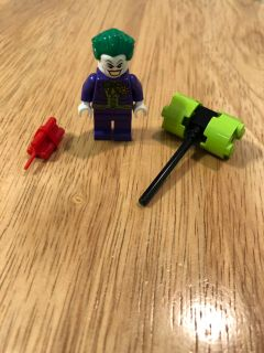 Lego Joker Minifigure with accessories.