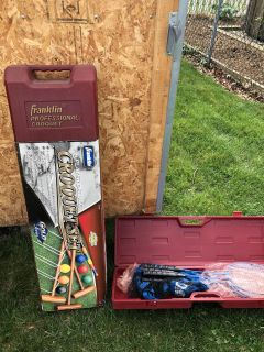 Franklin Professional Croquet Outdoor Set New Condition