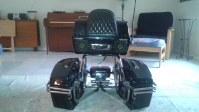 Honda saddle bags and trunk with am/fm/cd