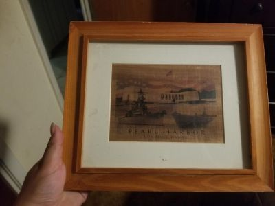 Pearl harbor picture and Koa wood frame