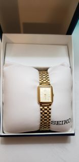 Women's Seiko Gold plated/Steel Watch
