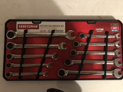 10 Piece Craftsman Ratcheting Wrench Set