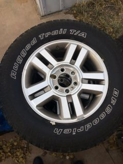 4 x 18 inch Ford Alloy Rims and Tires
