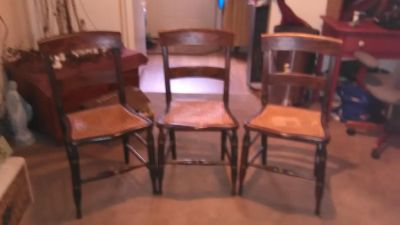 3 beautiful vintage chair s.