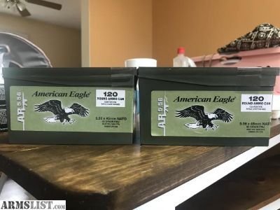 For Sale: BRAND NEW 240 ROUNDS 5.56 AMERICAN EAGLE XM855 AMMO