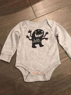 Cat & Jack long sleeve onesie newborn New nwot little monster