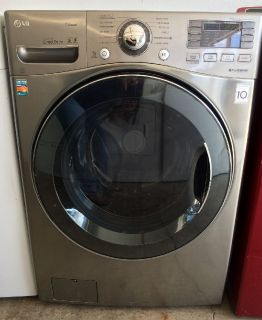 LG HE Front Load Washer in Graphite Steel