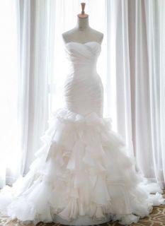 Carla's Organza Ruffle Mermaid Wedding Dress
