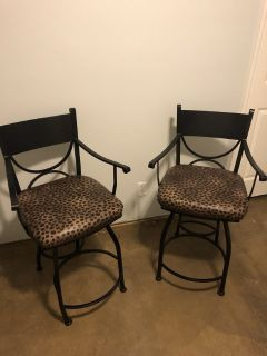 2 High Boy Swivel Chairs