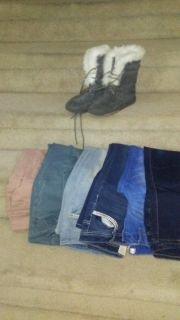 Girls jeans and boots
