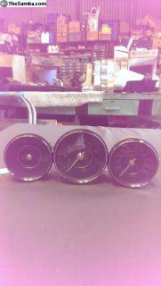 Green face Gauges Speedo, Tach. and oil temp gauge