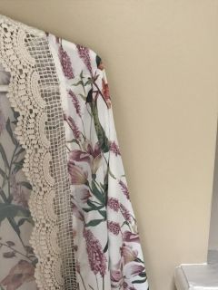 Floral and lace duster