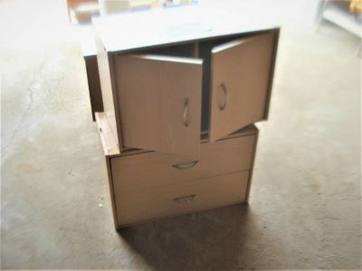 2 PIECE STORAGE CABINET reduced to $10