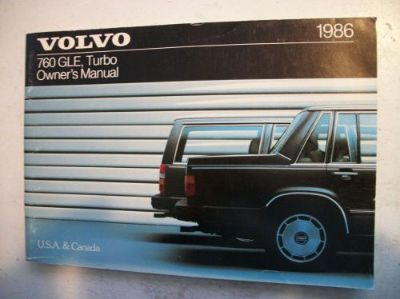 Find 1986 Volvo 760 Turbo & GLE Owner's Manual. Good Cond. Clear no owner info. motorcycle in Perris, California, United States, for US $17.50