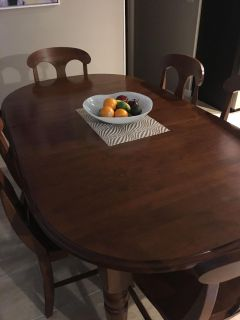 Farmhouse Kitchen Table with 6 Chairs